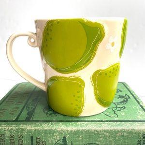 Starbucks Raised Limes Flowers 16 Oz Mug Coffee